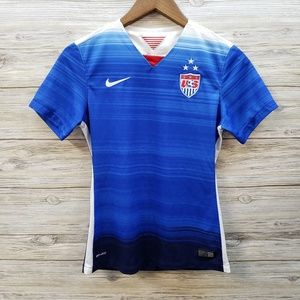 Nike US Soccer Red, Blue and White Short Sleeve